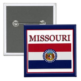 Missouri State Flag Design Button