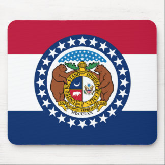 Missouri State Flag Mouse Mat