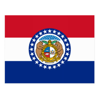 Missouri State Flag Postcard