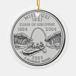 Missouri State Quarter Christmas Ornament