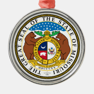 Missouri state seal america republic symbol flag christmas ornament