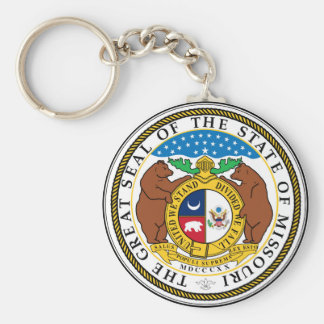 Missouri state seal america republic symbol flag key ring