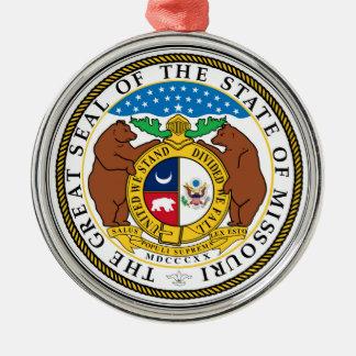 Missouri state seal america republic symbol flag Silver-Colored round decoration