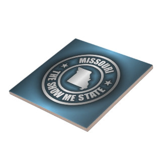 """Missouri Steel (Blue)"" Ceramic Tile/Trivet"