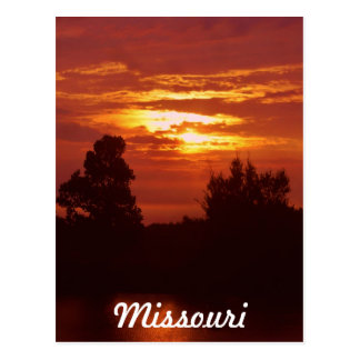 Missouri sunset postcard