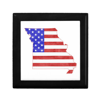 Missouri USA flag silhouette state map Gift Box