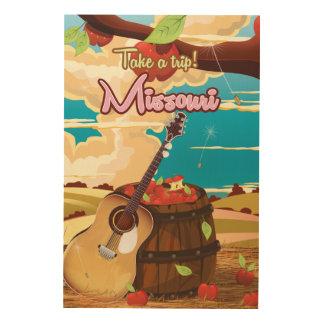 Missouri vintage cartoon travel poster