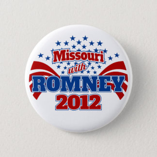 Missouri with Romney 2012 6 Cm Round Badge