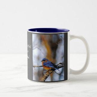 Missouris Eastern Bluebird. Two-Tone Coffee Mug