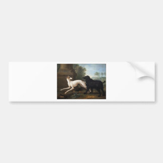 Missy and Luttine by Jean-Baptiste Oudry Bumper Sticker