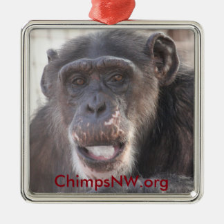 Missy Chimpanzee Square Ornament