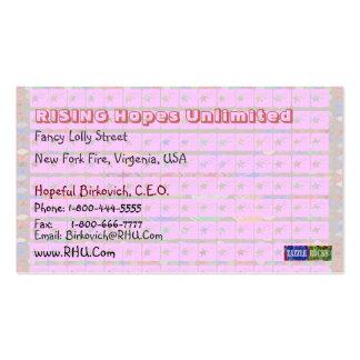 Missy Pakenham - Pink Stars Business Card Template