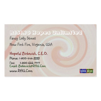 Missy Pakenham - Spiral Wave Pattern Business Cards