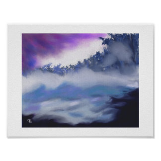 Mist over Freezing Water Art Poster