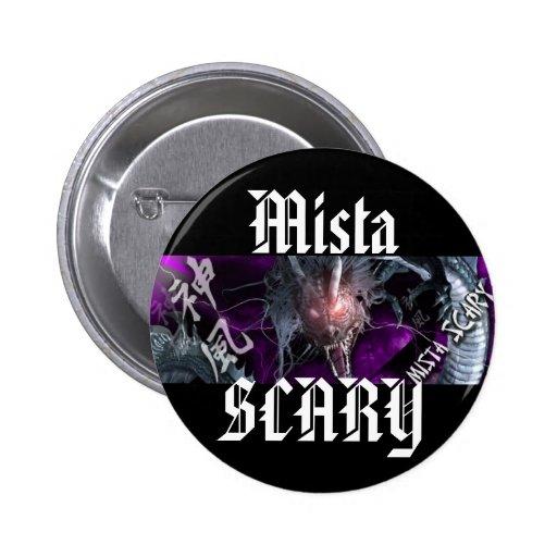 Mista SCARY Bright Purple Dragon Logo Button
