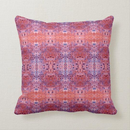 'Mistaken' Orange and Blue Pattern Throw Pillow