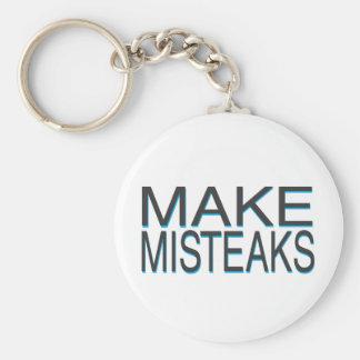Mistakes Basic Round Button Key Ring