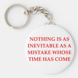 mistakes keychains