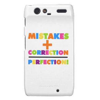 Mistakes Plus Correction Equals Perfection Motorola Droid RAZR Covers