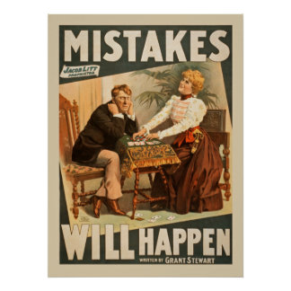 Mistakes Will Happen Vintage Drama Poster