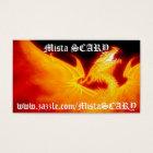 MistaSCARY Fire Phoenix Flaming Skull Profile Card