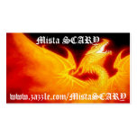MistaSCARY Fire Phoenix Flaming Skull Profile Card Pack Of Standard Business Cards