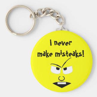 Misteaken Basic Round Button Key Ring