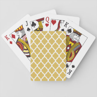 Misted Yellow Moroccan Tile Trellis Playing Cards