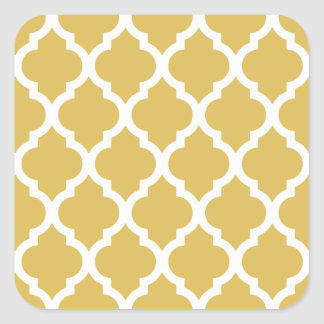 Misted Yellow Moroccan Tile Trellis Square Sticker