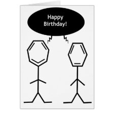 Mister Benzene Birthday card