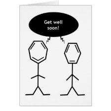 Mister Benzene Get Well Soon card