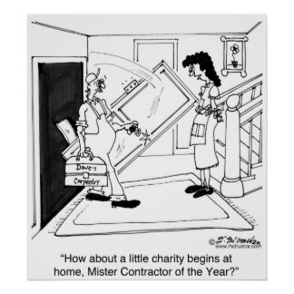 Mister Contractor of the Year At Home Posters