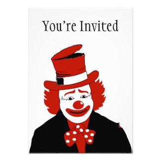 Mister Cool Clown With Dotted Bowtie Card