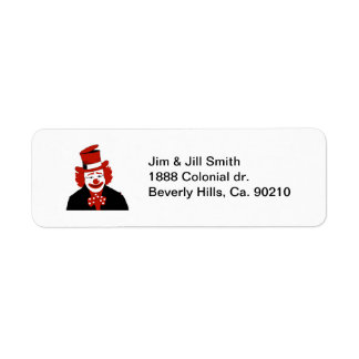 Mister Cool Clown With Dotted Bowtie Return Address Label