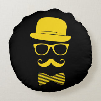 Mister hipster round cushion