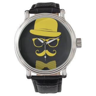 Mister hipster wrist watch