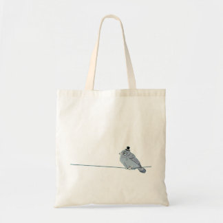 Mister Monocled Sparrow tote bag