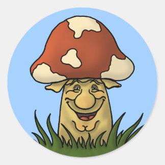 mister mushroom funny sticker