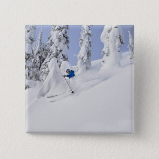 Mistie Fortin skis powder 15 Cm Square Badge