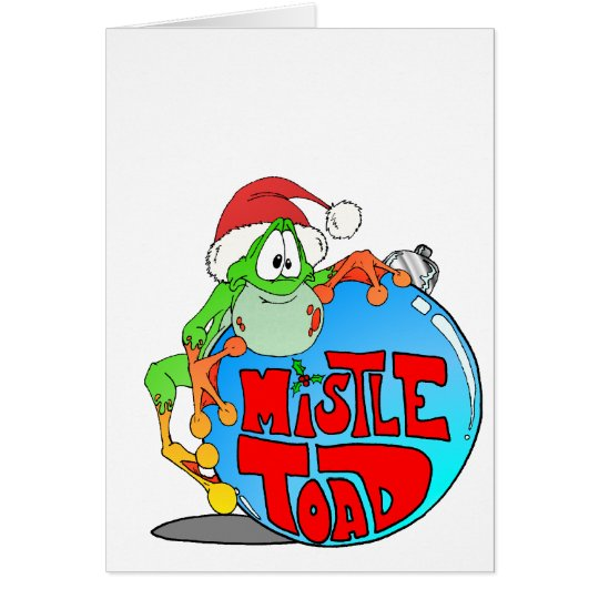 Mistle Toad Ornament Card