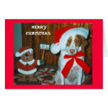 MISTLE TOE BRITTANY GREETING CARDS