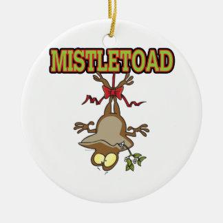 Mistletoad Mistletoe Toad Cartoon Round Ceramic Decoration