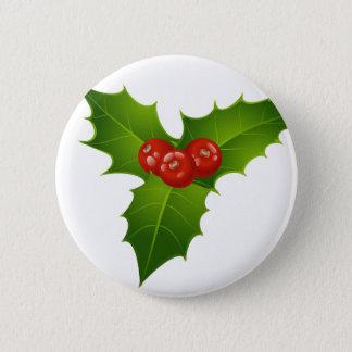 Mistletoe 6 Cm Round Badge