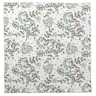 Mistletoe And Snowflake Pattern Napkin