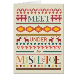 Mistletoe Christmas Greeting Card