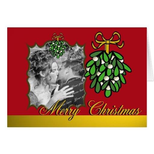 Mistletoe Christmas Photo Card