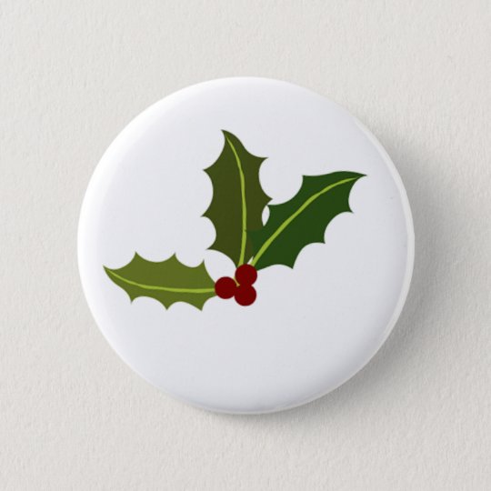 Mistletoe Christmas Round Button