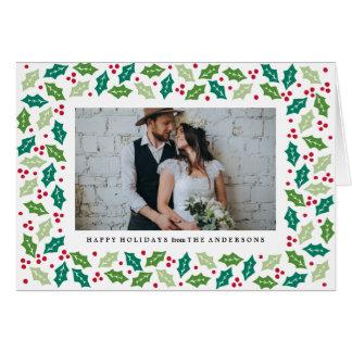 Mistletoe Folded Holiday Greeting Card