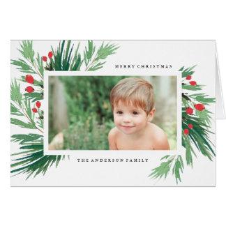 Mistletoe Holiday Greeting Card