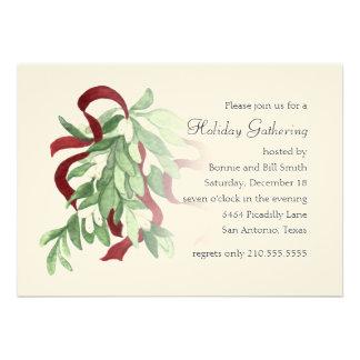Mistletoe Holiday Party Invitation